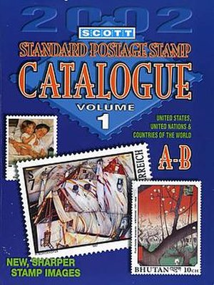 Scott catalogue - Covers of the 2002 edition featured art on stamps.