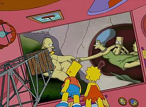 "The Simpsons parodied the work in ""The Ho..."