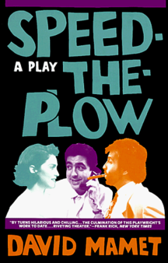 Speed-the-Plow - Poster for the 1988 Broadway introduction of the play
