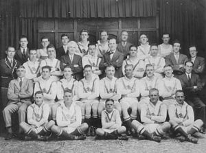 Frank Burge - Burge back row third from right, coach of Saints' 1930 team.