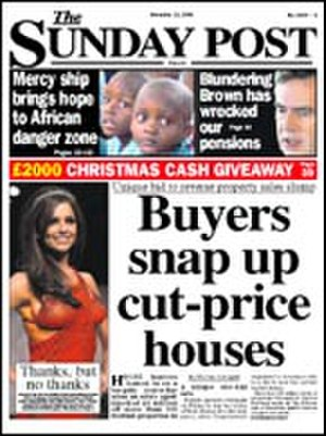 The Sunday Post - Image: Sunday Post cover Nov 9 2008