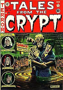 Horror comics comic book genre