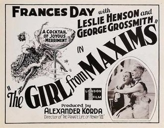 The Girl from Maxim's - Image: The Girl from Maxim's (1933 film)
