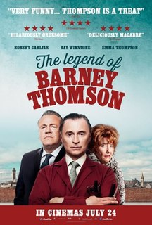 <i>The Legend of Barney Thomson</i> 2015 film by Robert Carlyle