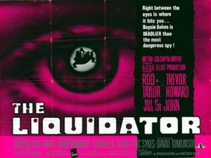 The Liquidator (1965 film) - Original UK quad cinema poster featuring Richard Willams artwork