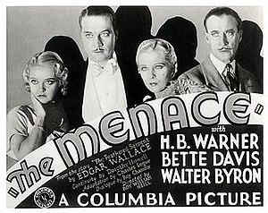 The Menace (1932 film) - Film Lobby Card