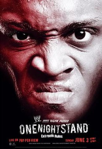 One Night Stand (2007) - Promotional poster featuring Bobby Lashley