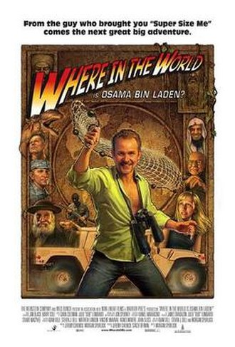 Where in the World Is Osama bin Laden? - Promotional poster parodying Raiders of the Lost Ark