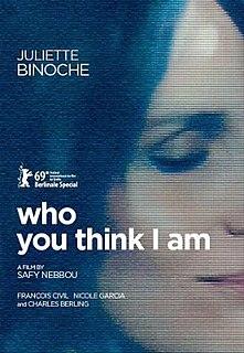 <i>Who You Think I Am</i> 2019 French film