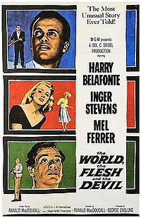 Wikipedia image of poster for 'The World, the Flesh and the Devil'