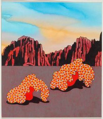 Kenneth Price - Hot Bottoms, watercolor on paper, 2005