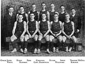 1912–13 Illinois Fighting Illini men's basketball team - Image: 1912 13 Fighting Illini men's basketball team