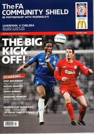 2006 FA Community Shield - Match programme cover