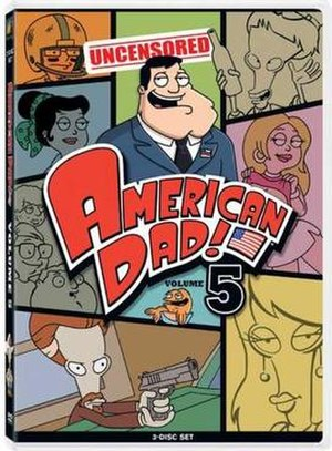 American Dad! (season 5) - Volume Five DVD cover art, which features episodes 7-20 from season five.