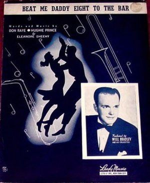 Beat Me Daddy, Eight to the Bar - Image: Beat Me Daddy Eight to the Bar sheet music cover