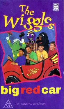 The Wiggles and their friends are in the first Big Red Car with Jeff driving it.