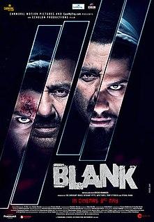 <i>Blank</i> (2019 film) 2019 Indian Hindi-language action thriller film