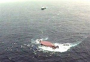 AHTS Bourbon Dolphin - Image: Bourbon Dolphin sinking