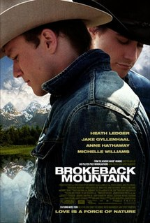 <i>Brokeback Mountain</i> 2005 film directed by Ang Lee