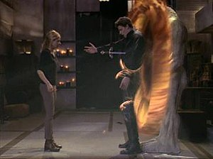 Great tragedy came about as Buffy of the show Buffy the Vampire Slayer had to kill her true love Angel in order to save the world, episode Becoming, Part Two.