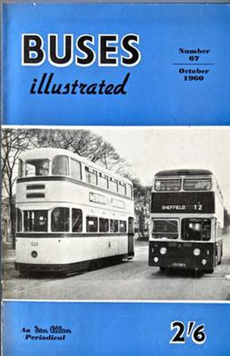 Buses (magazine) - Cover of the magazine from 1960
