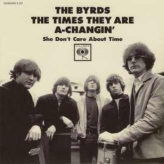 The Times They Are a-Changin' (song) - Image: Byrds The Times They Are a Changin' EP
