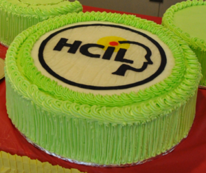University of Maryland Human–Computer Interaction Lab - The HCIL logo in cake form