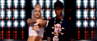 Can I Have It Like That - Stefani and Williams performing in front of a sort of equalizer.