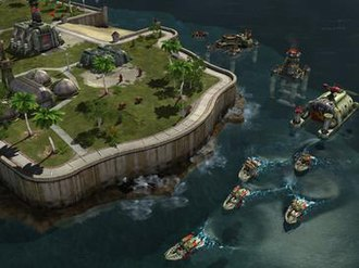 Command & Conquer: Red Alert 3 - In comparison to previous games, Red Alert 3 features a major upgrade on the naval warfare.