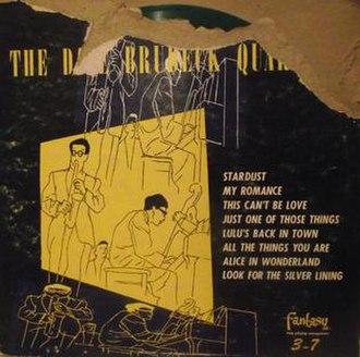Dave Brubeck Quartet (album) - Image: Dave Brubeck Fantasy 3 7