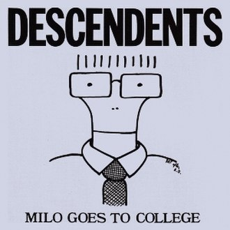 "Descendents - The original version of the Milo character, as drawn by Jeff ""Rat"" Atkins for the cover of Milo Goes to College"