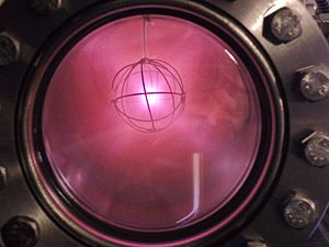 Deuterium - Ionized deuterium in a fusor reactor giving off its characteristic pinkish-red glow
