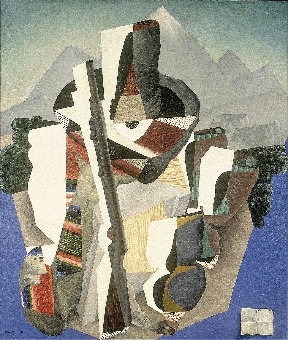 Diego Rivera - Zapata-style Landscape - Google Art Project