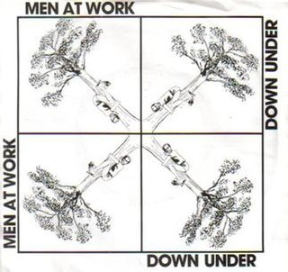Down Under (song) original song composed by Colin Hay and Ron Strykert, lyrics by Colin Hay; first recorded by Men at Work