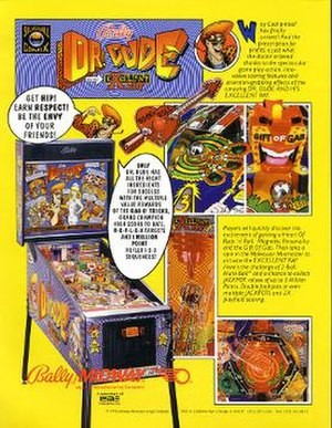 Dr. Dude and His Excellent Ray - Image: Dr Dude Pinball Flyer