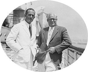 James B. Shackelford -  George Dromgold (left) and James B. Shackelford, 1933