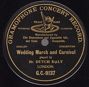 Gramophone Company - Early Gramophone label with original trademark