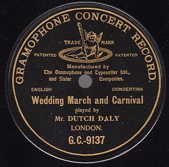"Gramophone Company - Early Gramophone label with original ""Recording Angel""  trademark"