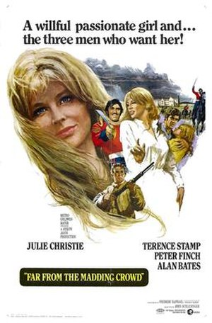 Far from the Madding Crowd (1967 film) - Original film poster by Howard Terpning