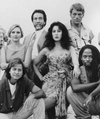 Key West (TV series) - Image: Fisher Stevens Denise Crosby Jennifer Tilly Key West cast 1993