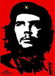 The original 1968 stylized image created by Jim Fitzpatrick.
