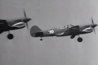 Flying Tigers (film) - Curtiss-Wright test pilots flew P-40E fighters in the live action aerial scenes.