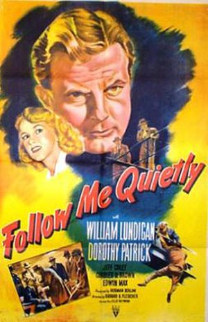 Follow Me Quietly - Theatrical release poster