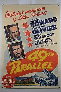 <i>49th Parallel</i> (film) 1941 film by Michael Powell