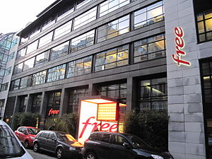Free (ISP) - Free head office in Paris.