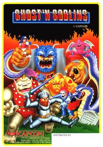 Ghosts 'n Goblins (video game) - Promotional arcade flyer