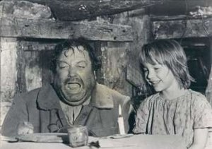Gigot (film) - Gigot (Jackie Gleason) and Nicole (Diane Gardner) cater a mouse's dinner in Gigot.