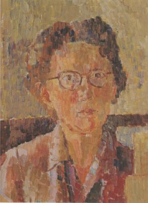 Grace Cossington Smith - Grace Cossington Smith, self-portrait, 1948, oil on cardboard, 39.5 x 30.7 cm, National Portrait Gallery.