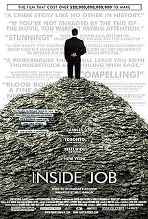 <i>Inside Job</i> (2010 film) 2010 film by Charles Ferguson