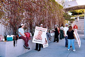 Intactivists protest for Genital Integrity at the Convention for 2004 of American Academy of Pædiatrics in San Francisco.Jpeg